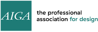 AIGA, the professional association for design Logo